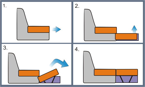 Схема дивана дельфин