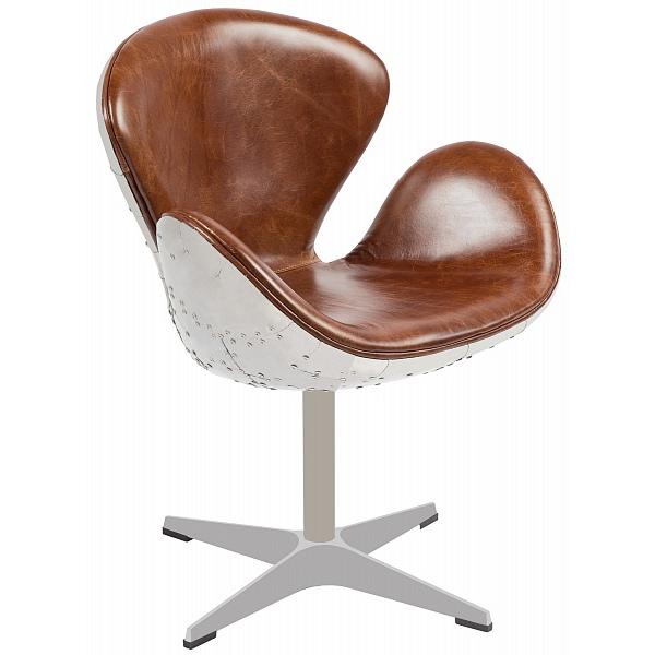 Стул-кресло с подлокотниками на одной ножке