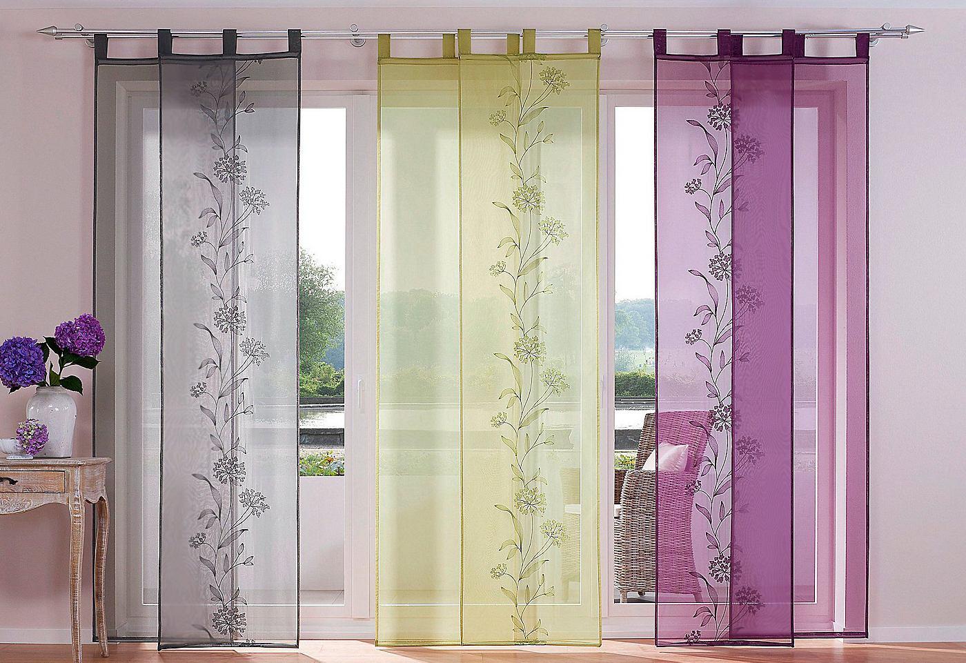 Японские прозрачные шторы