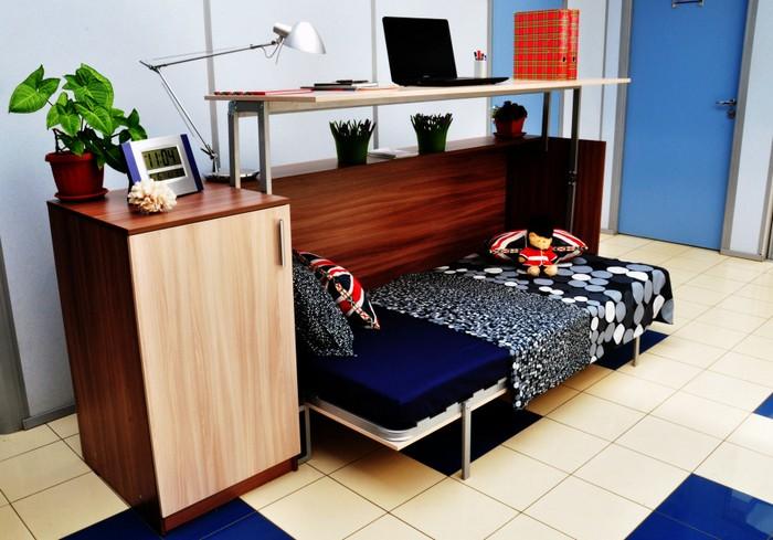 Кровать-трансформер с рабочим местом