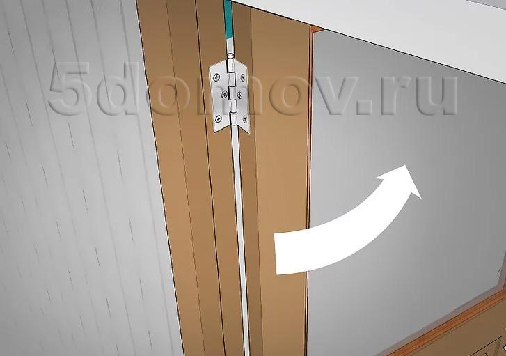 Смазанный стержень вставляется обратно, а дверь проверяется на наличие скрипа путём открывания и закрывания её несколько раз