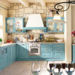 Provence classic style kitchen / traditional / wood / painted