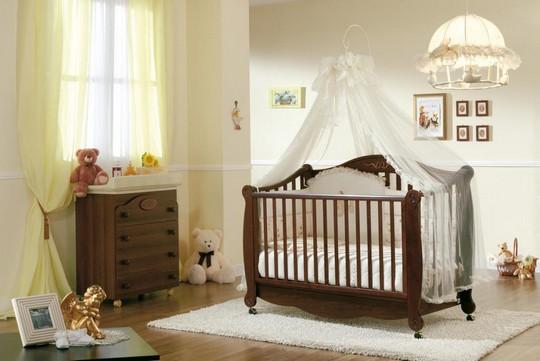 Балдахин белый на детскую кроватку