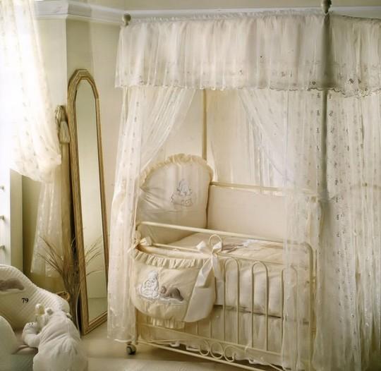 Балдахин на детскую кроватку фото