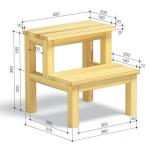 Чертеж стула-стремянки с размерами