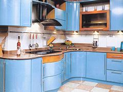 Кухонный гарнитур в синем цвете