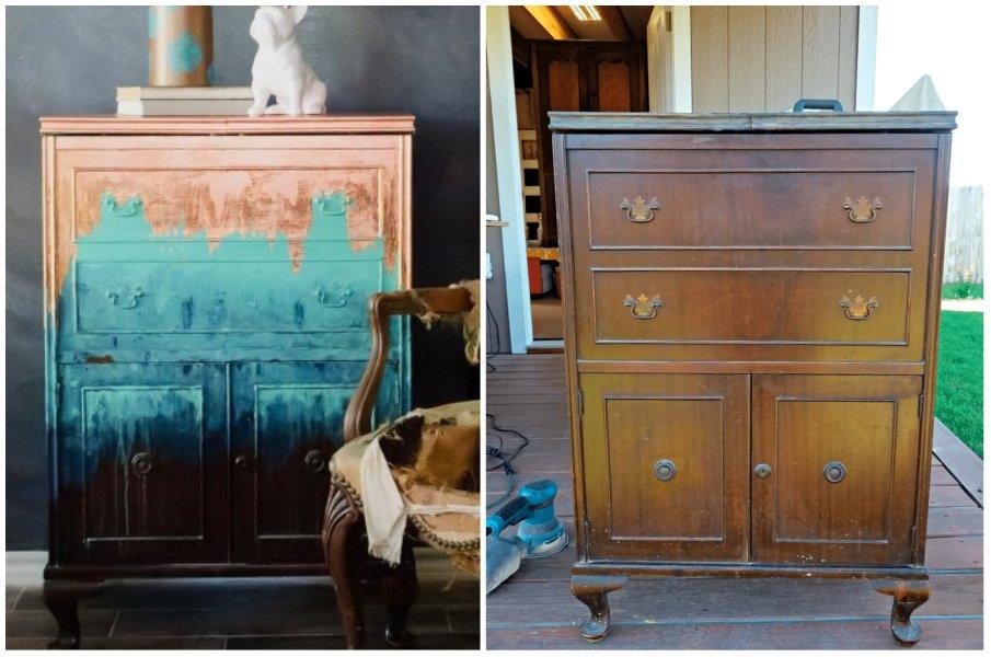 Подарите новую жизнь старой мебели покрасив её в совершенно новый цвет