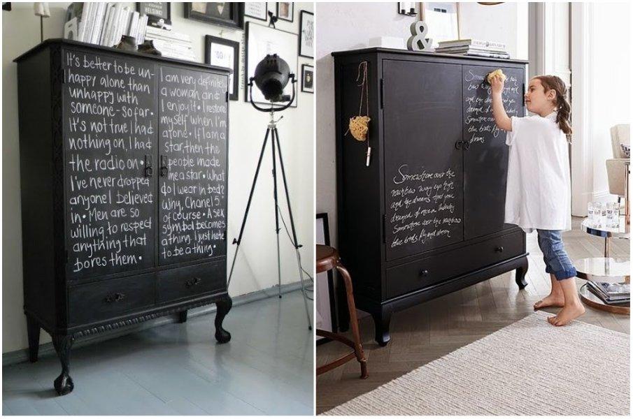 Доска для записей прямо на шкафу или комоде — стильное и практичное решение