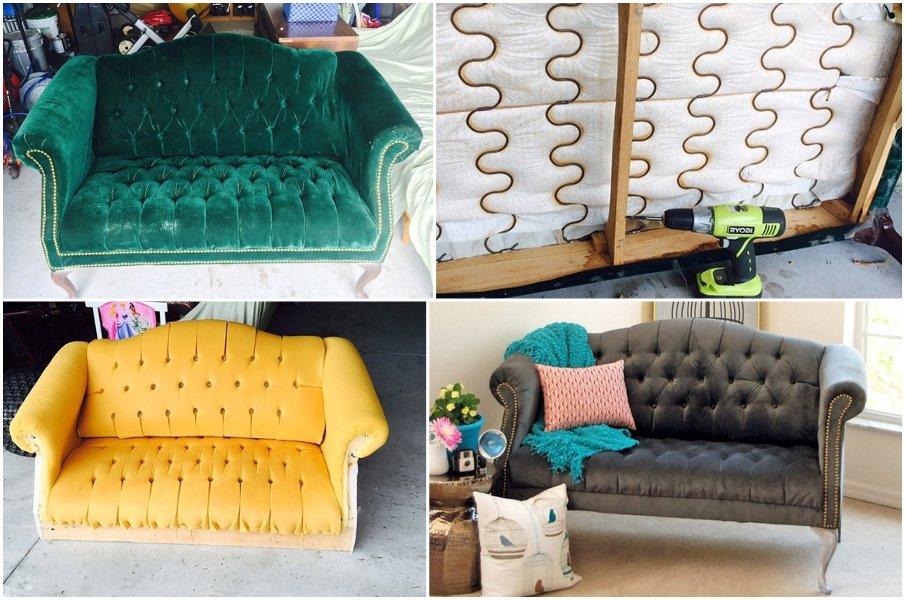 Смените обивку на старом диване и подарите себе новую роскошную мебель