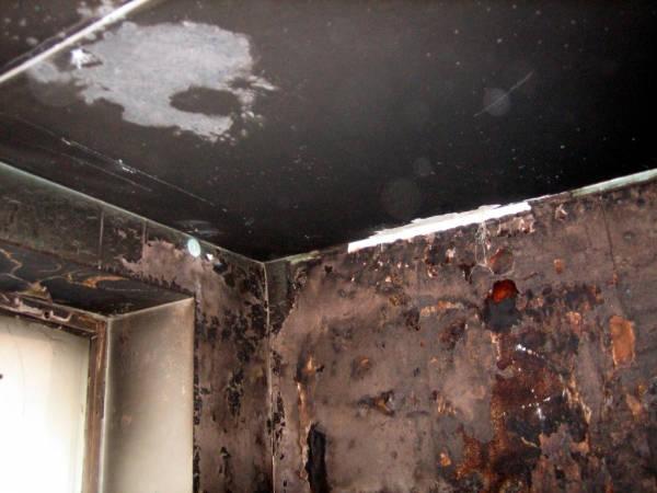 Помещение после пожара