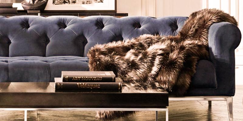сине-серый велюровый диван, металлические ножки