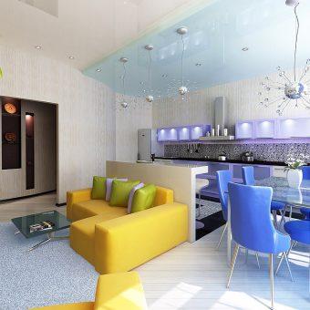 Дизайн однокомнатной квартиры студии 75 фото идей
