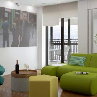 интерьер комнаты в стиле минимализм