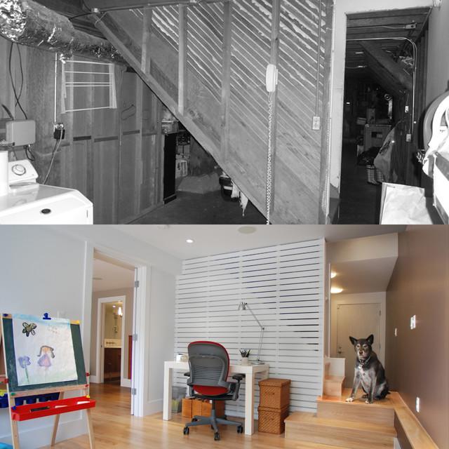 Рабочее место в гараже после ремонта