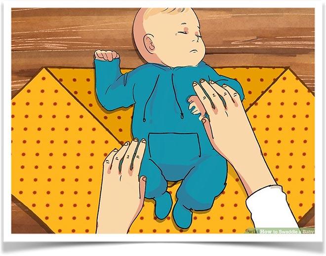 Пеленание ребенка три