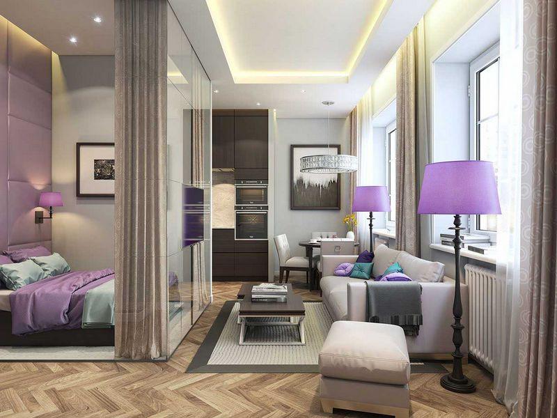 Дизайн интерьера узкой гостиной: идеи оформления
