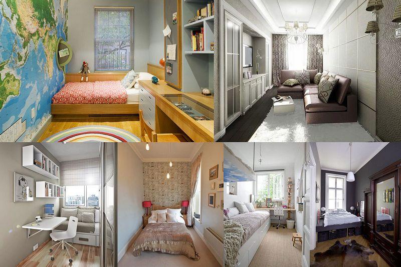 Интерьеры узких комнат - как сделать уютным?