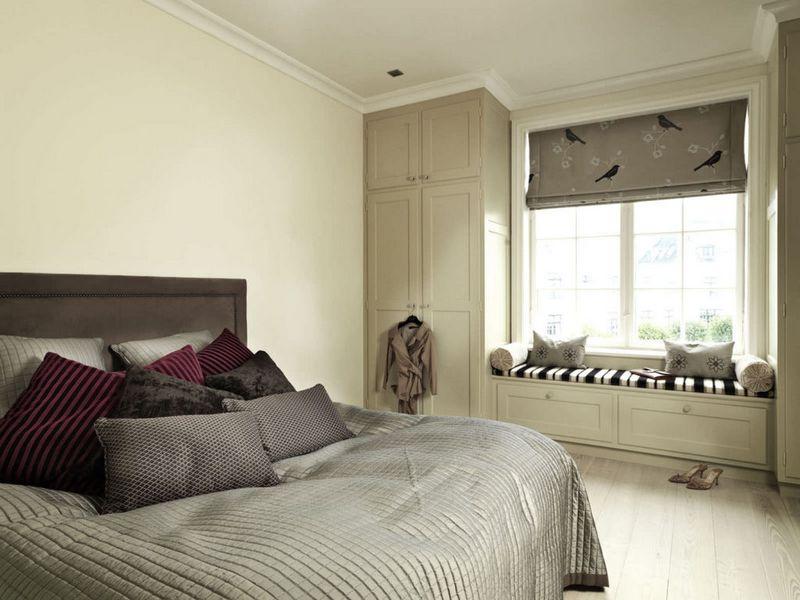 Узкая спальня - фото необычных дизайнерских решений