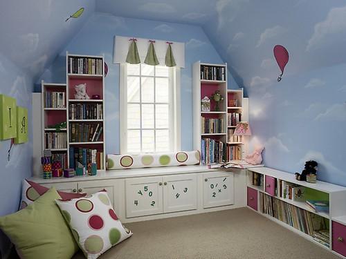 Книжные полки - аксессуар для детской комнаты