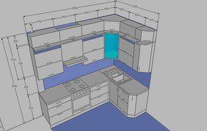 Какие размеры у кухонного гарнитура