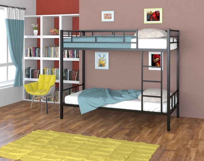 Компактная и простая двухъярусная кровать