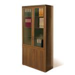 древесный со стеклом книжный