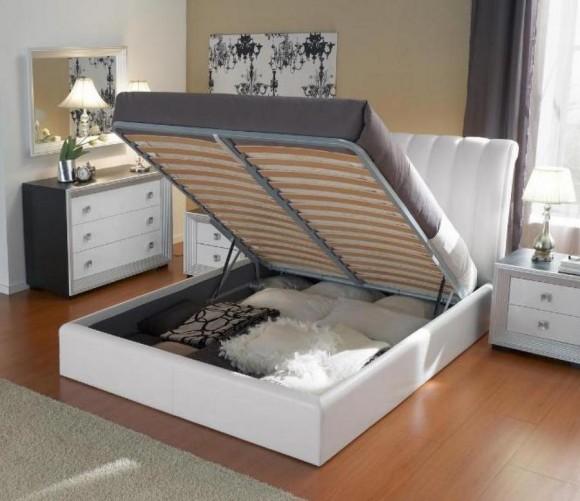 Подъемный механизм в двуспальной кровати