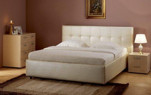Кожаные кровати с подъемным механизмом