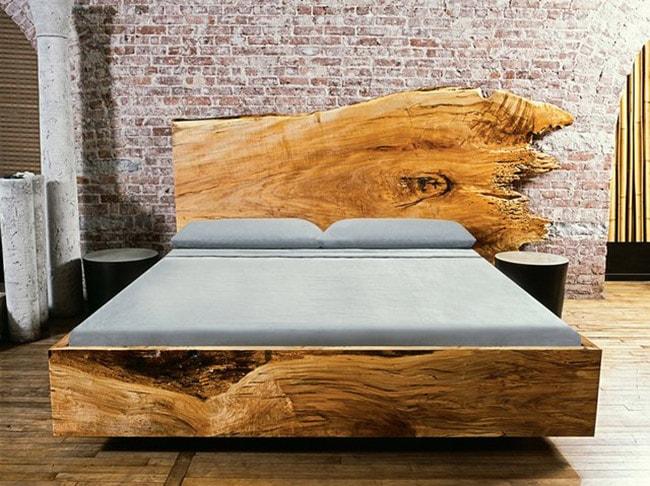 кровать из пластов дерева своими руками