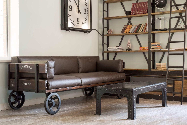 необычный диван на колесиках
