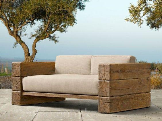 удобный диван своими руками из деревянных брусьев