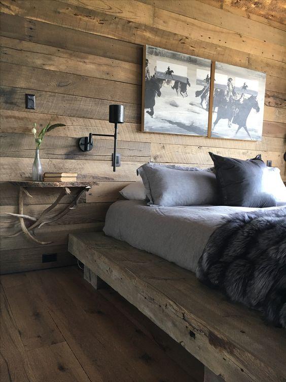 палубные доски и брусья в дизайне комнаты