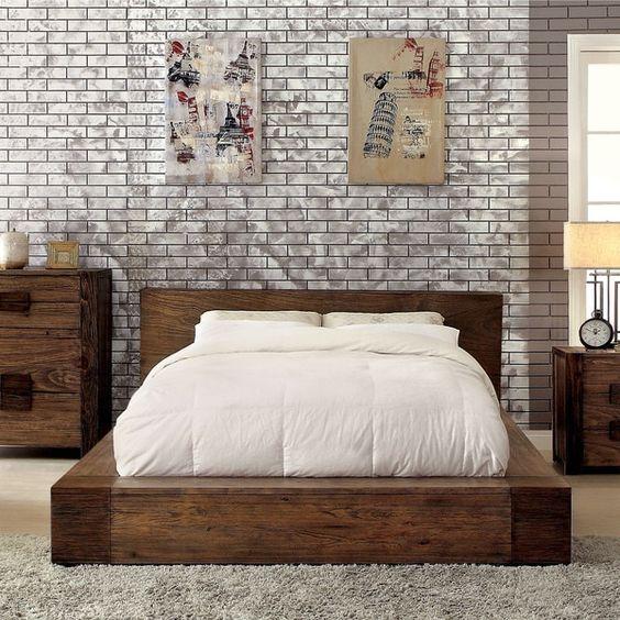 классическая спальня в стиле лофт
