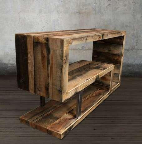 оригинальный деревянный стол своими руками