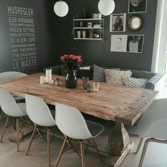 большой деревянный стол для семейных встреч