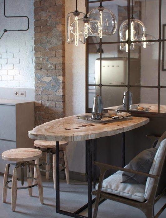 кухонный стол в современном интерьере своими руками