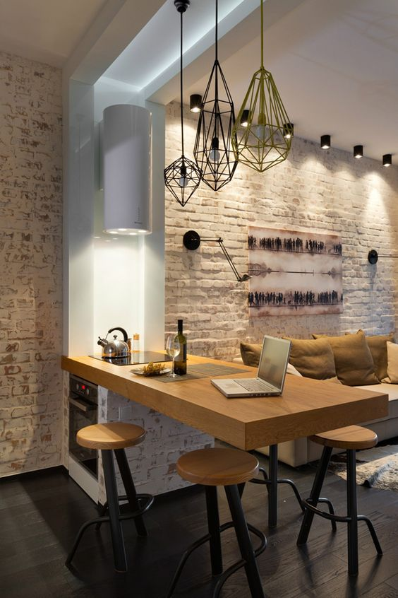 современная кухня в квартире-студии