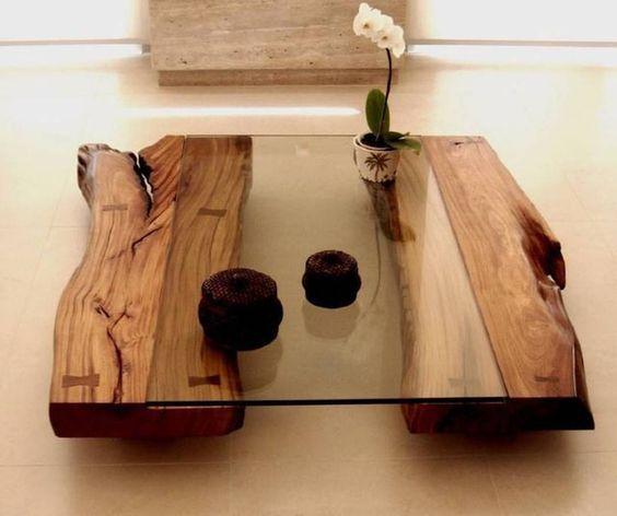 стильный деревянный стол со стеклянной поверхностью своими руками