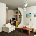 Интерьер комнаты в однокомнатной квартире — советы профессионалов