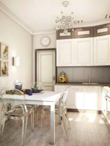 высокий кухонный гарнитур