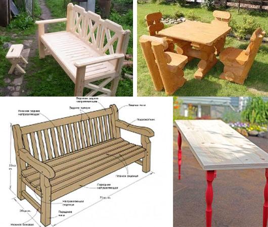 На фото – варианты садовой мебели