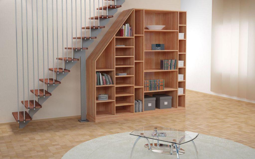 Красивый шкаф под лестницей, который можно сделать своими руками