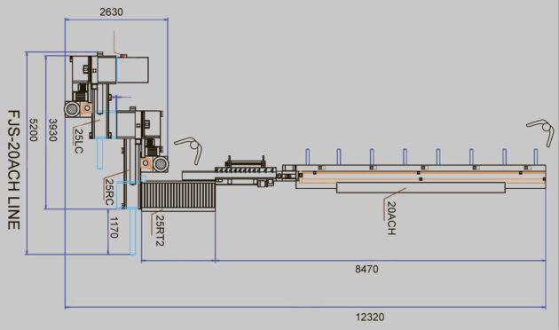 Полуавтоматическая линия торцевого сращивания FJS-20AH