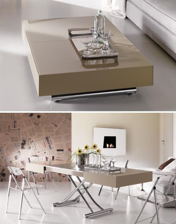 Трансформирующееся модель журнального стола для гостиной в обеденный