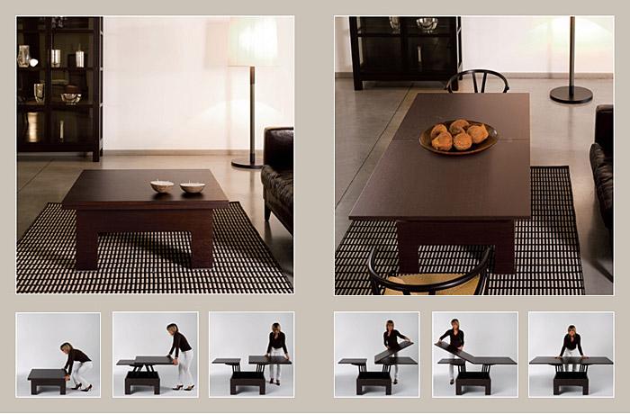 Обеденный стол - трансформер в гостиной