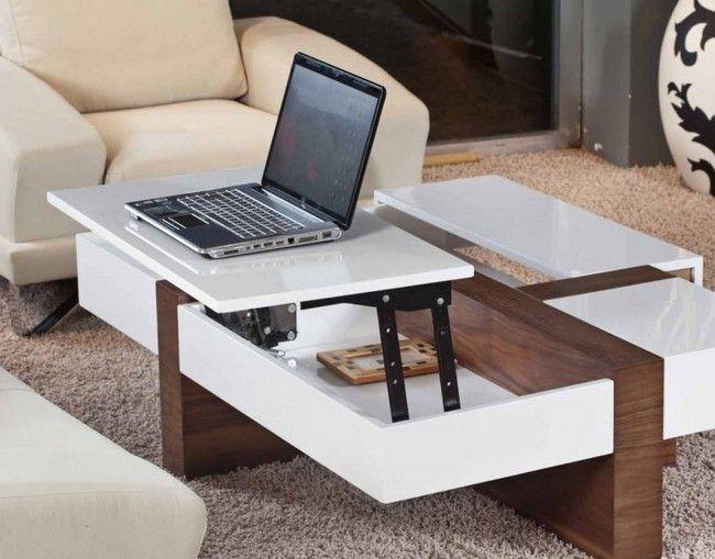 Журнальный столик - трансформер с рабочей поверхностью для ноутбука