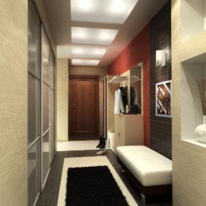 светлый дизайн коридора в современном стиле