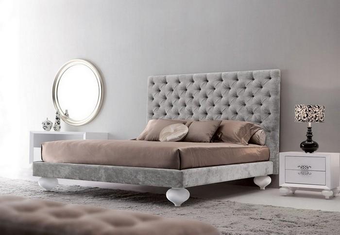 Бархатная кровать в стиле ар-деко