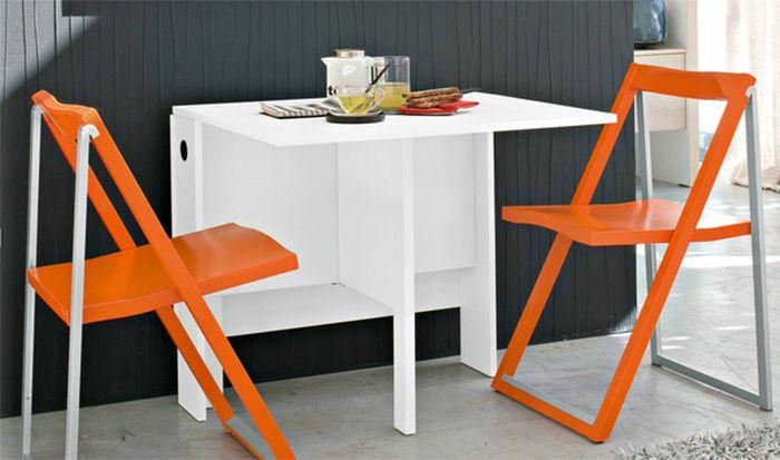 откидной стол со стульями для кухни