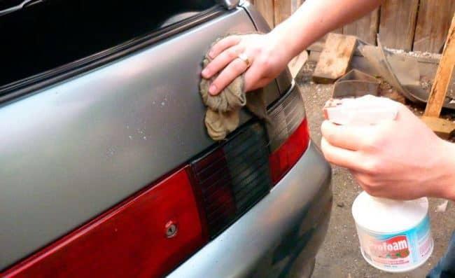 Очищаем автомобиль